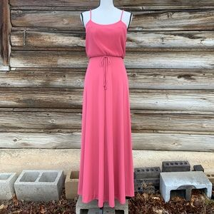 Vintage Joseph Magnin ~ Pink Spaghetti Strap Dress